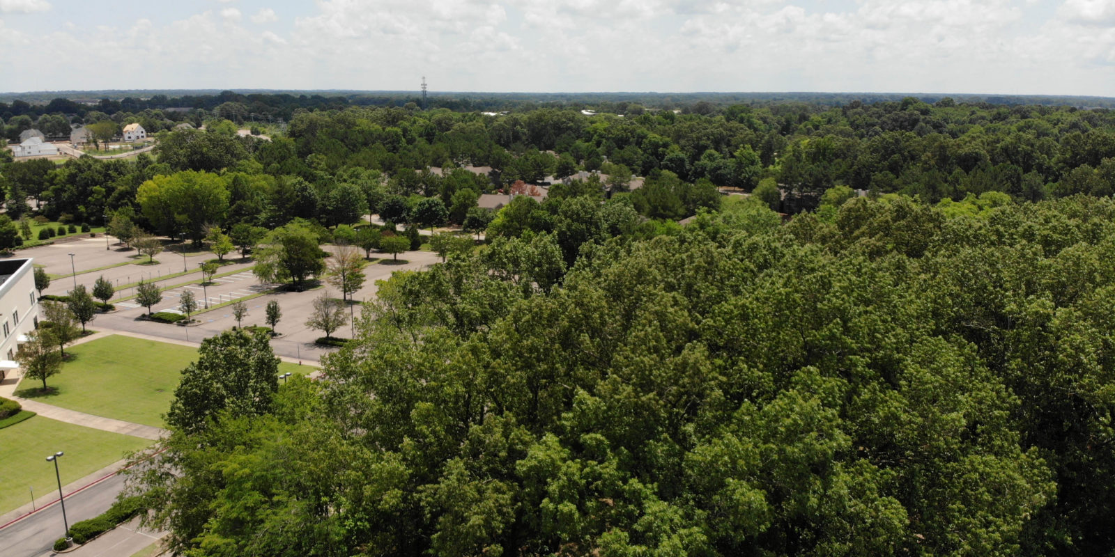 jim west central church collierville tn drone photo